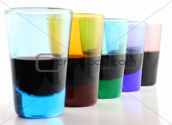 5 Drinking Glasses - close up