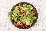 A fresh olive salad