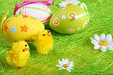 Pastel colored easter eggs