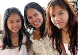 Happy family from Thailand
