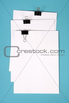 clipboard with squared paper