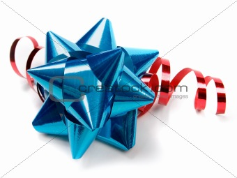 Blue bow. Great for weddings, birthdays, Christmas