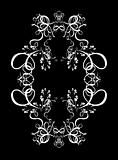 Decorative Abstract Digital Design - Circular Frame Background