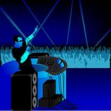 DJ party blue