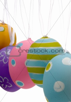 Brightly painted Easter Egg Decorations