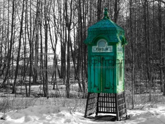 Aged phonebooth