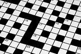 Blank crossword