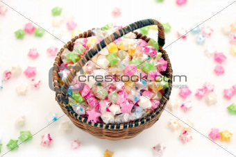 a basket with stars (folding from plastic