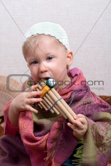 boy with pan flute