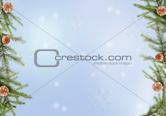 Blue, ice winter holiday backgrounds