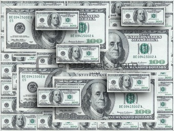 American dollars 3D background