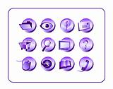 Icon Set Purple