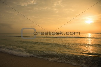Sunrise over Mombasa beach