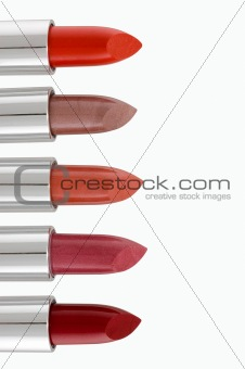 Palette of lipsticks