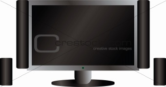 black lcd silver