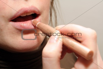 Lipstick make-up
