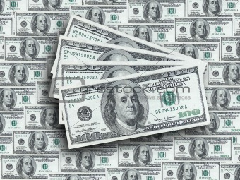 American dollars background