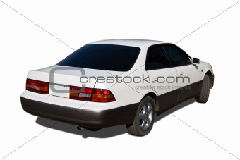 abstract photo of business car isolated over white background