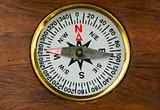 Old style wooden compass