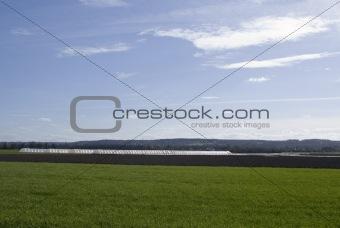 Greenhouse on field