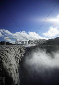 Mighty Dettifoss waterfall