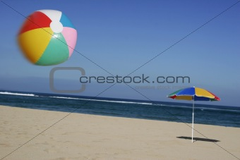 Beachball in the Air