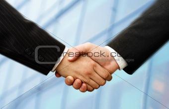 business hand shake