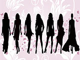 Fashion girls - vector