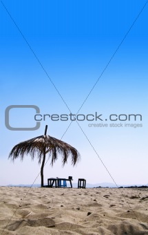 Hut on A Tropical Beach
