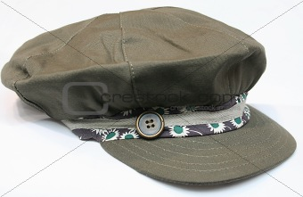 Olive cap with button