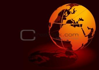 3D Globe - Red