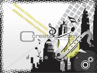 city music background wallpaper