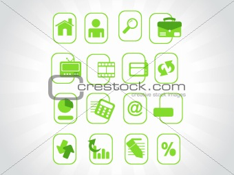complete web Icons collection, green