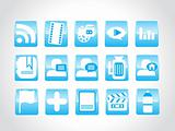 computer icons blue, vector