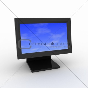 Sky on monitor