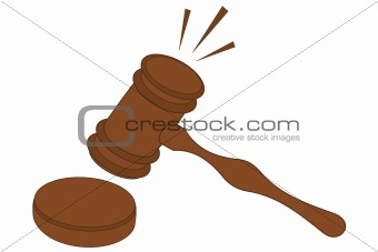 A pounding wooden gavel Gavel