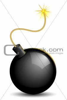 Lighted bomb