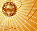 Golden vector disco ball