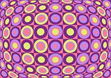 Retro colorful pattern. Vector