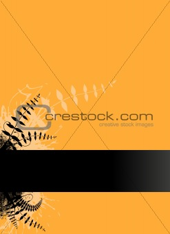 Black stripe with place for text. Vector