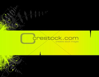 Green stripe with place for text. Vector