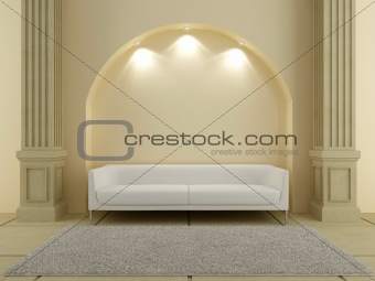 3D Interiors - Sofa under the arc
