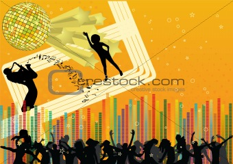 Abstract party design. Vector.