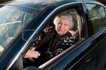 86 year old woman at her home, drivingn her car