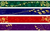 Exotic summertime banners
