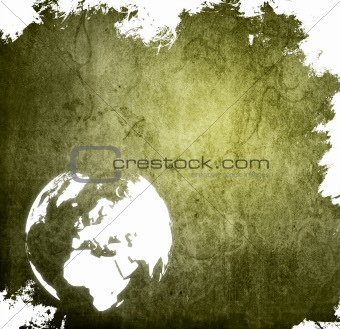 aged Europe map-grunge artwork