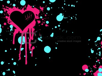 Clashing colors Emo heart background
