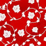 Seamless rose sari pattern
