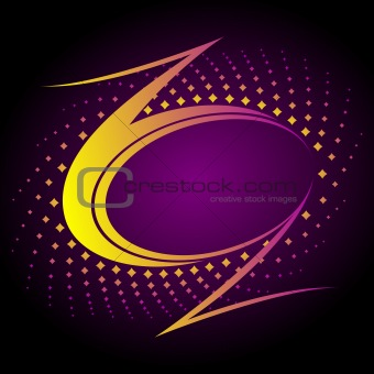 Abstract futuristic music background