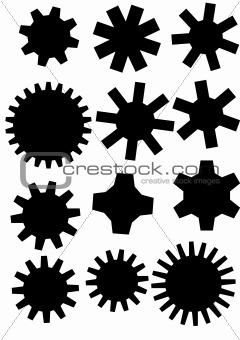 poster with gearwheel. vector illustration